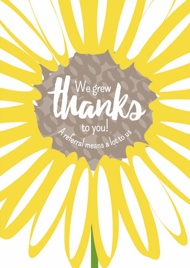 Creative Little Cards Thank You Sunflower