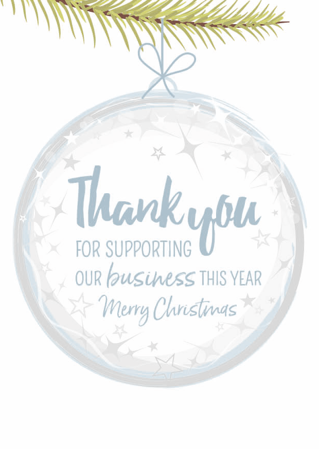 Creative Little Cards Thank You For Supporting Our Business Merry Christmas