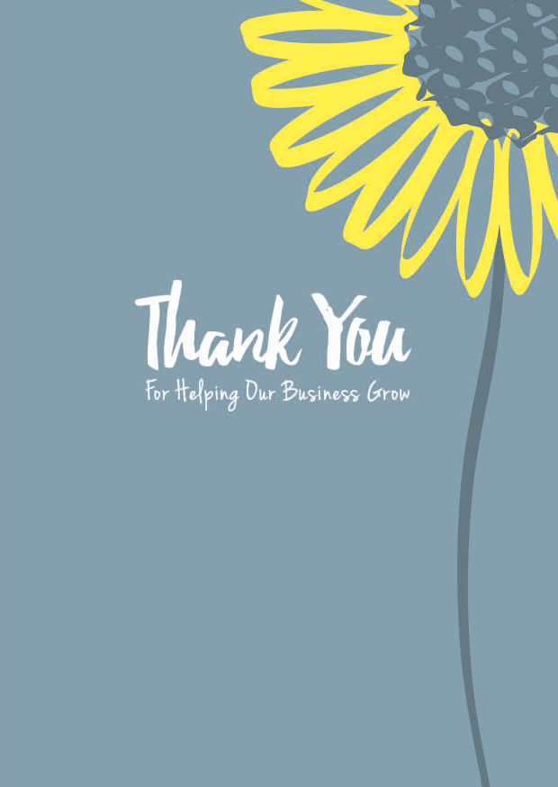 Creative Little Cards Thank You For Helping Our Business Grow